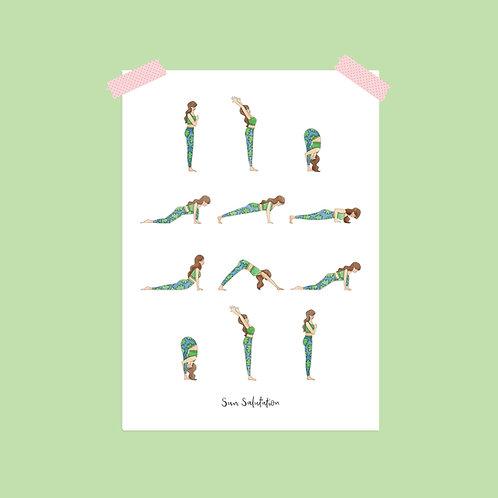 Sun Salutation Yoga Print
