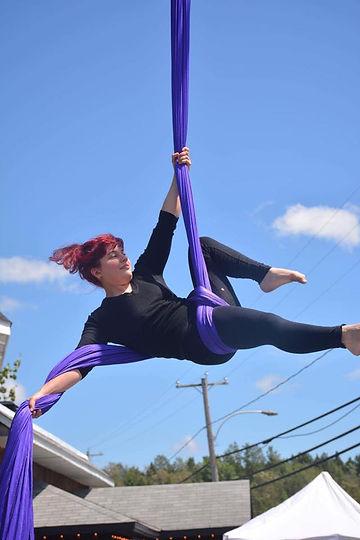 Cirque Sherbrooke tissus aerien