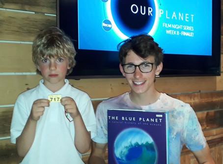 Our Planet Screenings – Raffle Prize winner!
