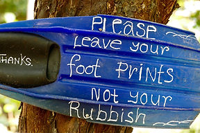 leave footprints not rubbish