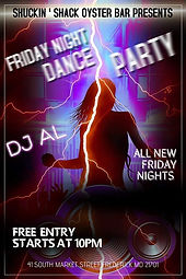 DJ Dance party at the Shuckin' Shack Oys