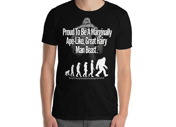 Dark Marginally Ape-Like Short-Sleeve Unisex T-Shirt
