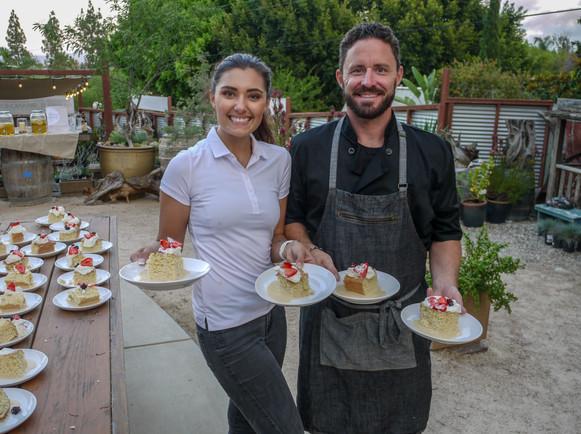 Kaylee Romeo and Chef Jason Baker