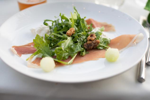 Burrata Salad with Prosciutto & Melon