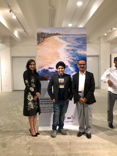 Lamees Alhassar Art Exhibition Between Cities and Shores 2nd October 2019