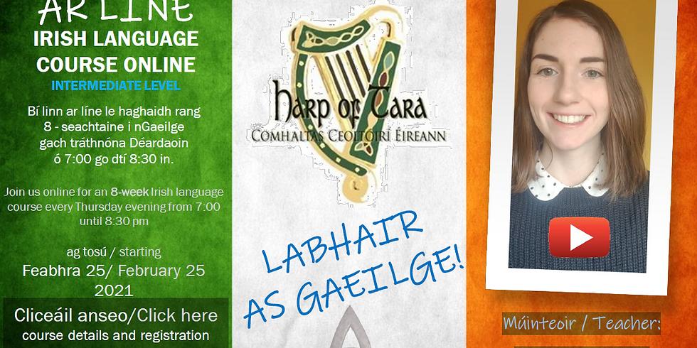 8 Week Intermediate Level Irish Language Course