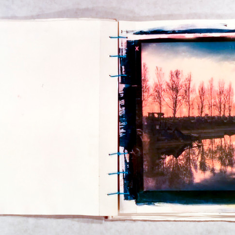 Tri-Color Gum Bichromate handbound Book