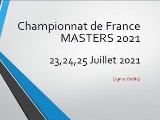 CHAMPIONNATS DE FRANCE MASTERS F.F.C. SUR ROUTE 2021