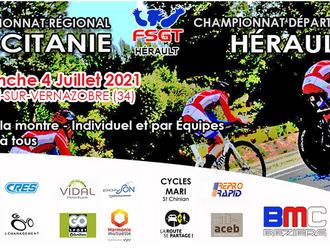 Championnat d'Occitanie FSGT Contre La Montre.