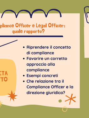 Compliance Officer e Legal Officer: quale rapporto?