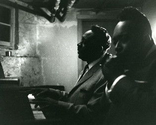 Otis Spann and James Cotton down in the basement