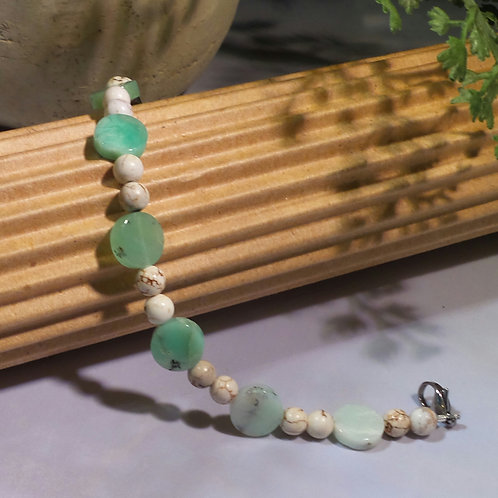 Chrysoprase/White Turquoise Add-on Bracelet