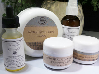 "What is our product line ""Rosey Glow"" all about?"
