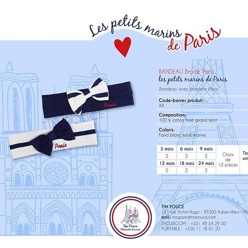 Bandeau avec broderie Paris