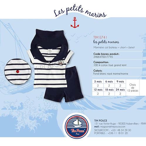 Marinière col bateau + Short + Béret