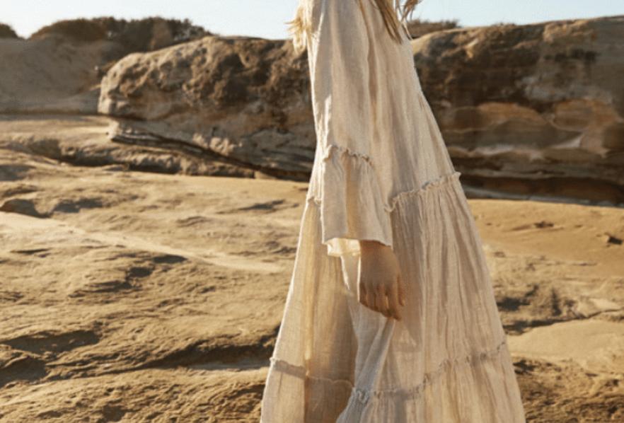 Maxi Sorrento Dress | Battista Natural | Estilo Emporio