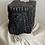 Medium Carved Antique Indian Candle Holder | Black