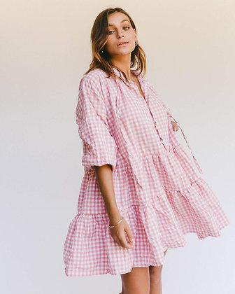 Avalon Smock Dress   Candy Gingham   The Lullaby Club