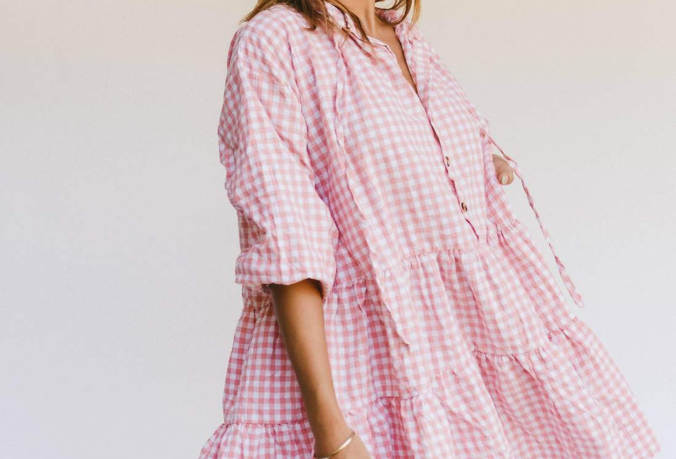 Avalon Smock Dress | Candy Gingham | The Lullaby Club