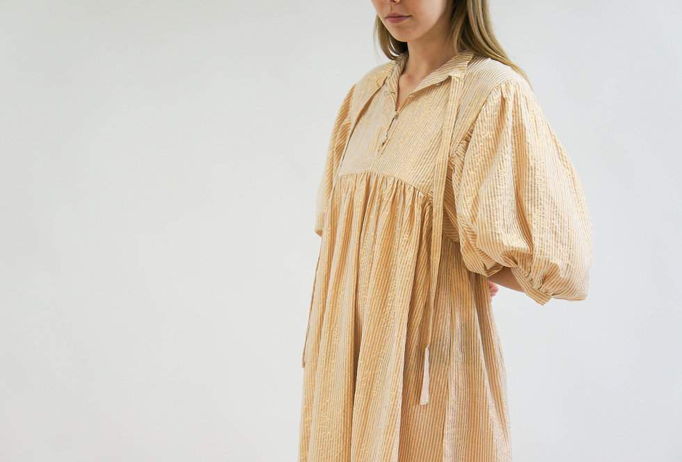High Desert Medellin Dress | Gold Stripe Sand | Jen's Pirate Booty