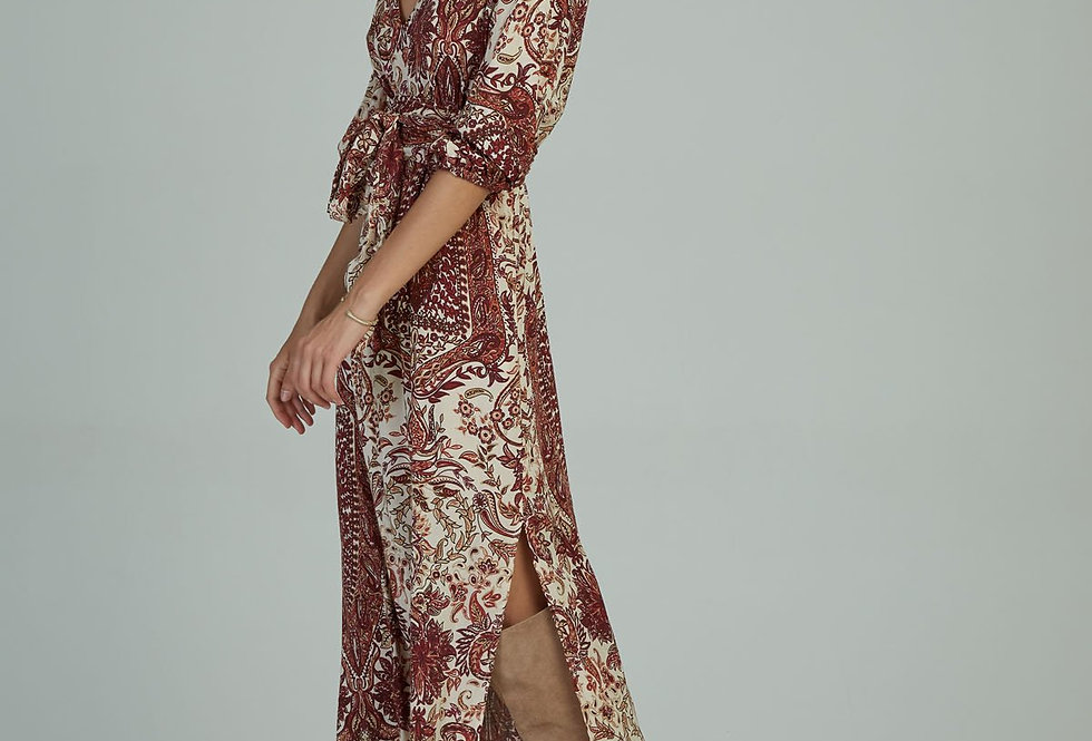 Calma Maxi Dress | Paisley Wines | Lilya