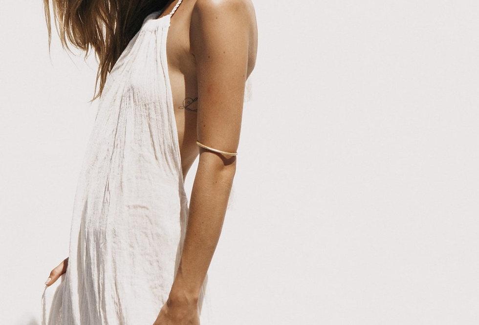 Grecian Margarita Maxi Dress in Natural by Jen's Pirate Booty    100% Cotton Gauze.