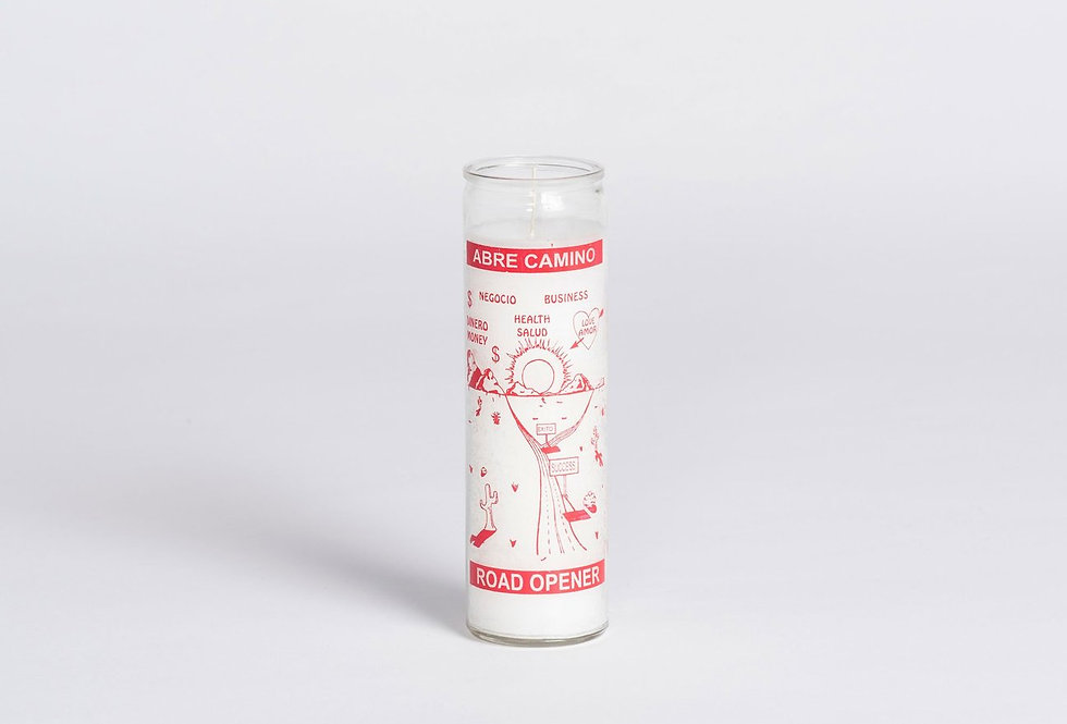 Unscented candle in glass cylinder by W.PICO    Made in Los Angeles, California these slow-burning candles will make miracles