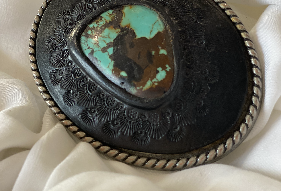 Turquoise Belt Buckle | Buffalo Girl