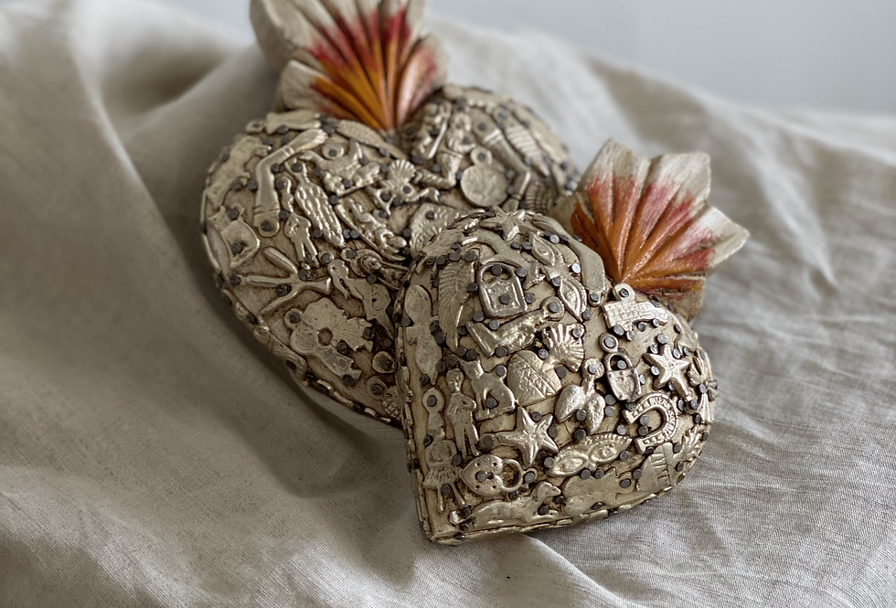 Milagros are religious folk charms that are traditionally used for healing purposes and as votive offerings in Mexico