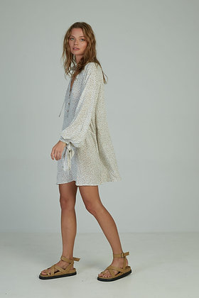 Paros Mini Dress   Vintage Floral Sand   Lilya