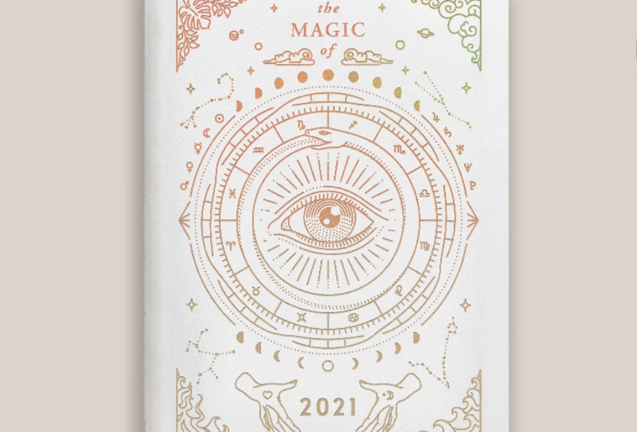 Astrological Pocket Sized Planner in White by Magic Of I
