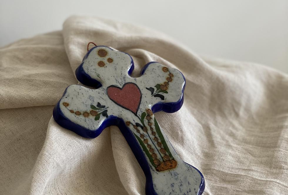 Ceramic Hand Painted Cross