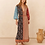 Darya Maxi Smock Dress by Boteh    Maxi length sits just above the ankle, side splits and drawstring waist can be worn relaxe