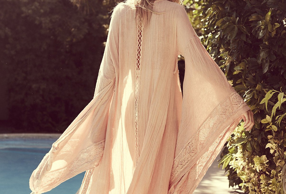 Wood Creek Kimono in Natural by Jen's Pirate Booty   100% Cotton Gauze.
