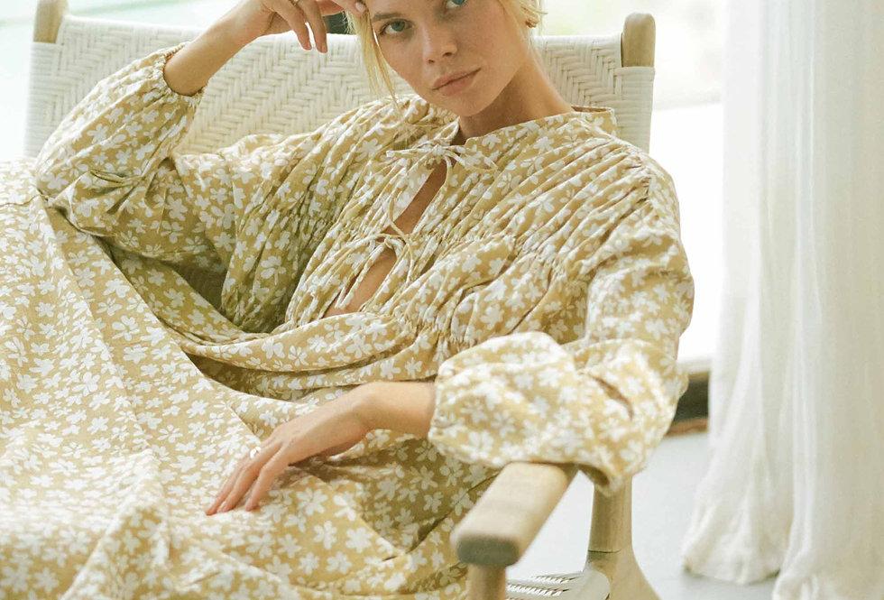 Penny Smock Midi Dress | Caramel Daisies  | The Lullaby Club