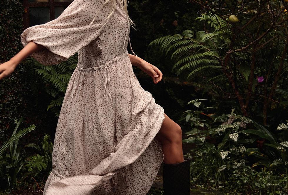 Dee Dee Maxi Dress   Vintage Floral Sand   Lilya