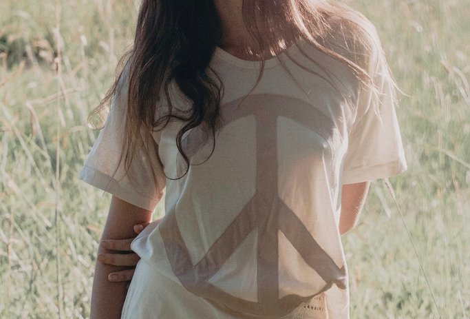 Come Together Flag Tee | Almond | Golden Brown The Label