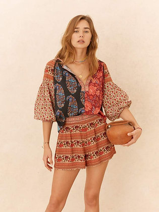 Darya Smock Blouse byBoteh    Signature smock blouse with intricate gathered details and 3/4 full sleeve.