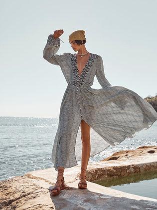 Leda Maxi Dress   Blues   Boteh