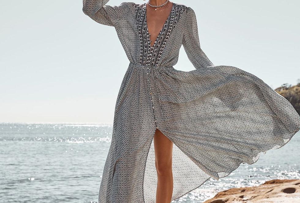 Leda Maxi Dress | Blues | Boteh