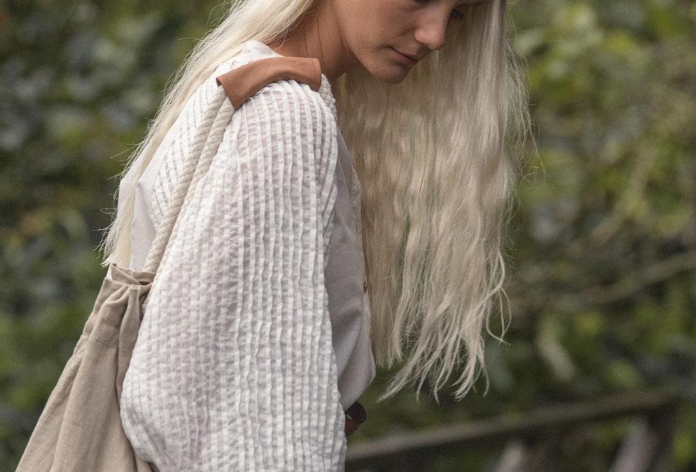 Linen Rope Bag | Fog | Lilya
