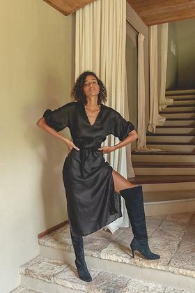 Calma Maxi Dress   Black   Lilya