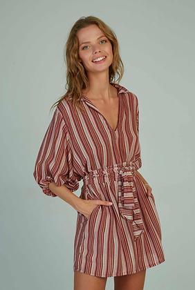 Calma Mini Dress   Port Stripe   Lilya