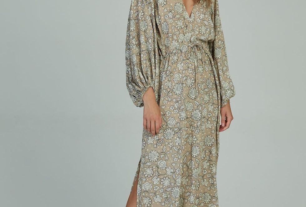 Sofia Maxi Wrap Dress | Jaipur Sand | Lilya