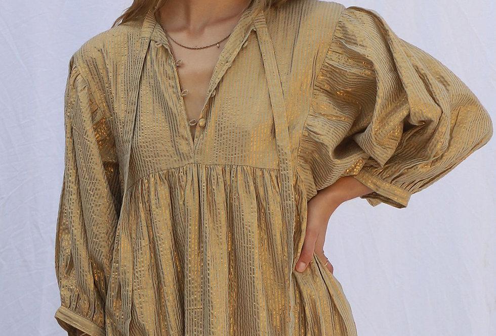 High Desert Medellin Dress   Gold Stripe Yucca   Jen's Pirate Booty
