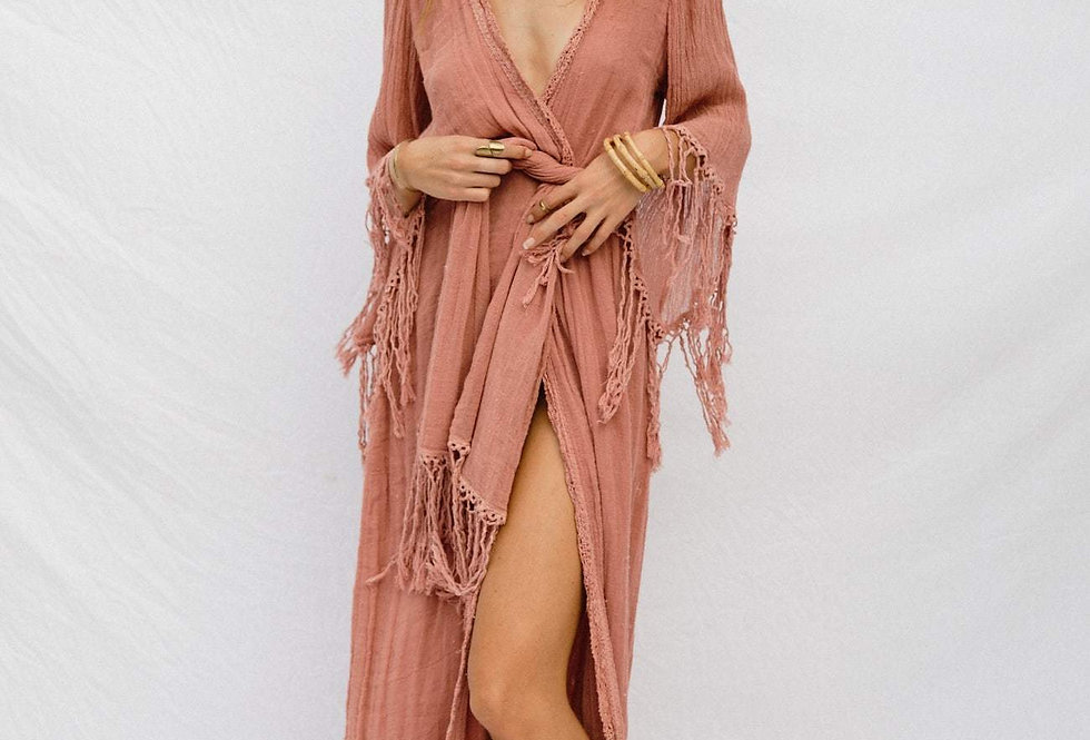 Phoenix Robe/Maxi in Blushing by Jen's Pirate Booty    100% Cotton Gauze.