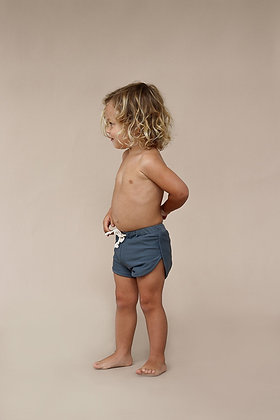 Mesa Trunks in Mineralby Ina Swim    70's inspired style  Elastic waist with adjustable drawstring tie