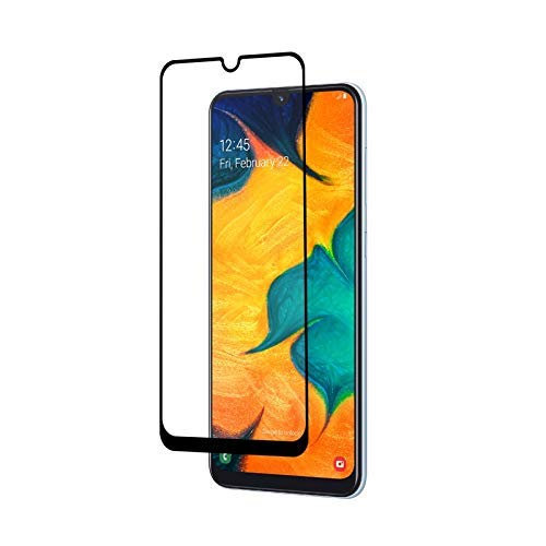 Samsung A20 Black Tempered Full Glass