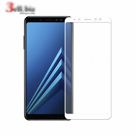 Samsung  A8 2018 white Tempered Full Glass