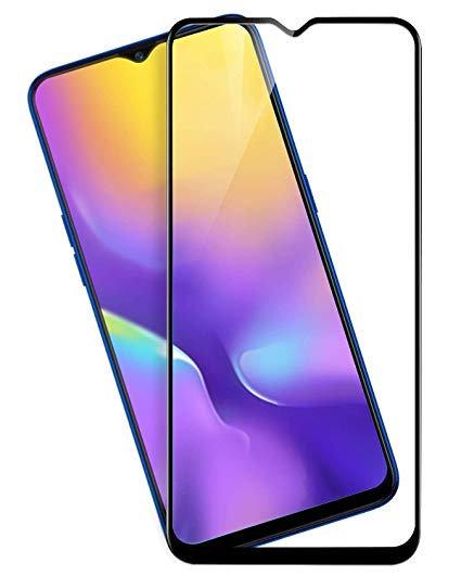 Samsung M30 Black Tempered Full Glass